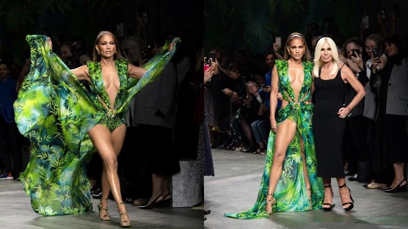 【米蘭時裝週】珍妮佛羅培茲壓軸走秀,Versace再次重現20年前經典火辣禮服