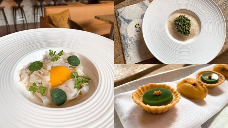 S Hotel《S Restaurant & Bar》全新菜單登場!蛋黃花枝麵、石頭牛奶干貝......每一道都像浪漫藝術品