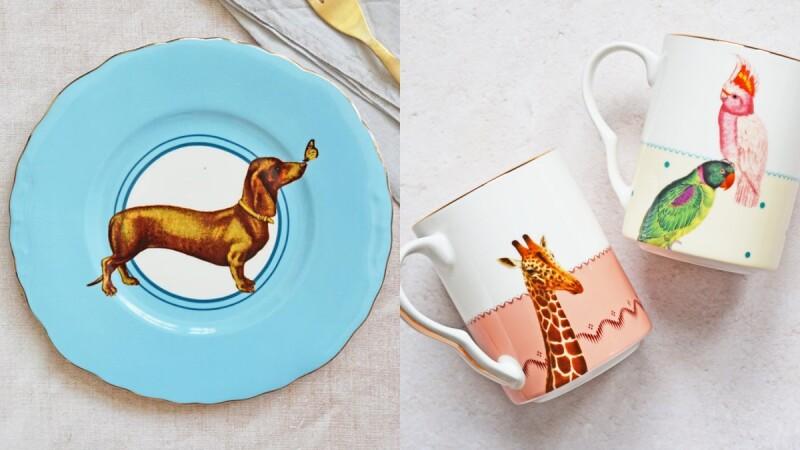 餐桌一秒變動物園!英國居家生活品牌Yvonne Ellen盤子、水杯上有臘腸狗、企鵝、大象,療癒指數破表