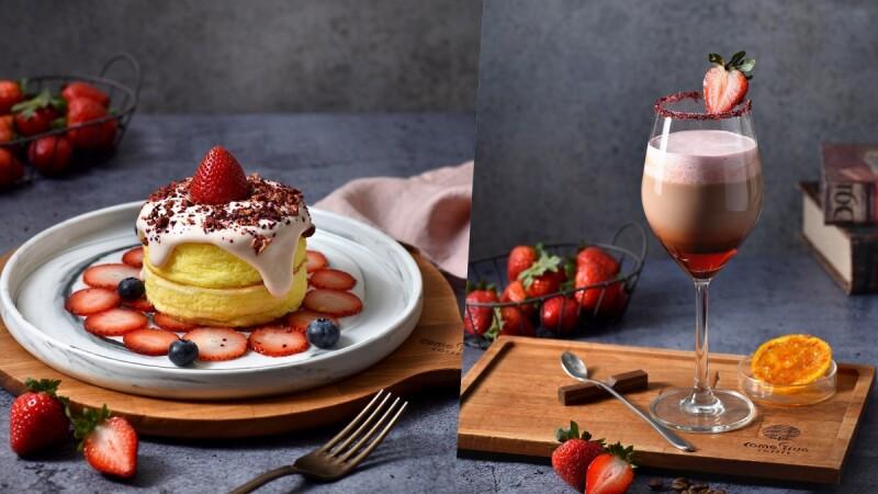 呼叫草莓控!IG打卡美食「成真咖啡」插旗板橋車站,必吃限定草莓舒芙蕾、草莓可可
