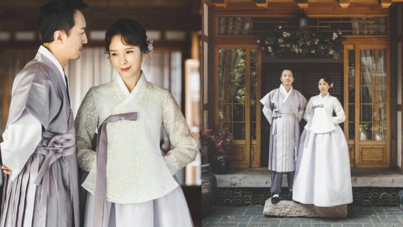 天心超唯美婚紗照曝光!和韓籍老公結婚3年,韓式婚紗風格浪漫破表