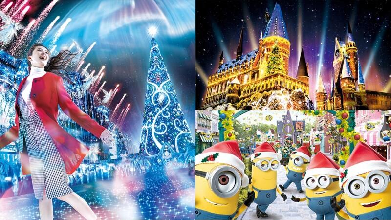 【2019日本環球影城】聖誕節必朝聖!30公尺高水晶聖誕樹、霍格華茲奇幻光雕秀,記得捕捉聖誕帽小小兵
