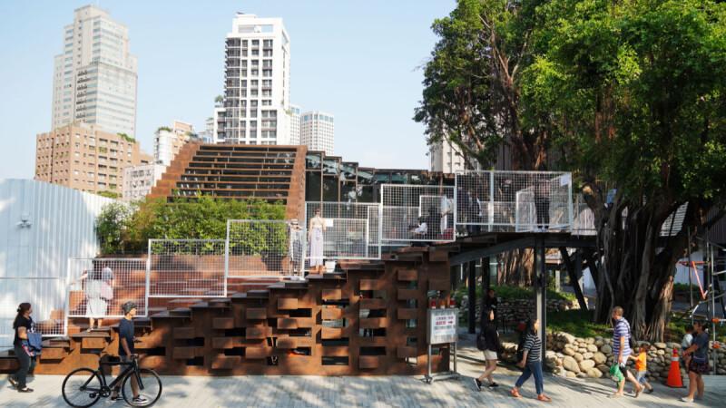 台中勤美「工家美術館」翻新工地形象,開放式建築空間打造城市納涼一隅