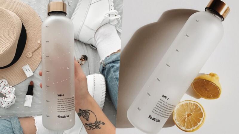 不怕忘記喝水!超美「時間表水瓶」質感滿分,提醒大家喝水時間替大家補充滿滿水份