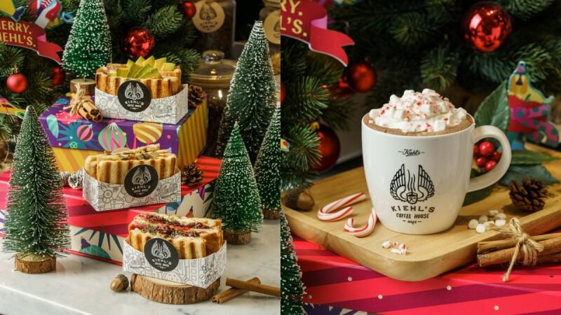 KIEHL'S COFFEE HOUSE推出2019聖誕限定餐點,烤雞莓果起士三明治、拐杖糖熱可可、還有派對甜點禮盒,迎接最NEW YORK的歡樂耶誕