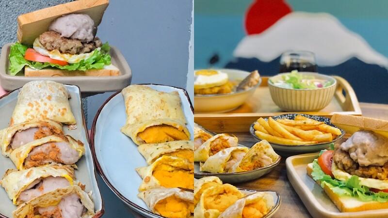 【北門美食】《富士山の豬》超人氣早午餐,必點芋泥蛋餅、芋泥手打豬肉三明治