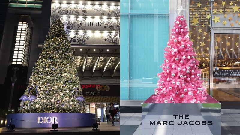 2019精品聖誕樹登場! Marc Jacobs夢幻粉色系、DIOR絕美圖騰印花耶誕樹亮燈了
