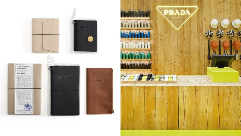 繼首爾後台灣也有了!PRADA ESCAPE系列快閃店就開在這,還跟日本文具品牌Midori打造獨家商品