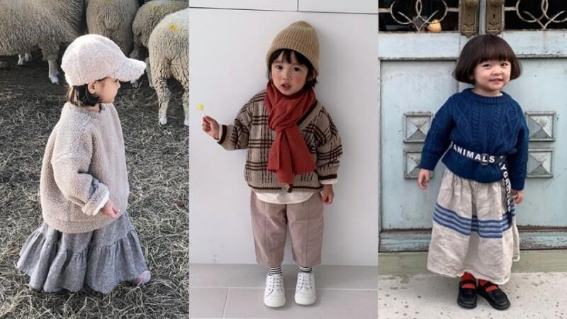 就算穿的圓滾滾也要時髦亮相!跟著韓國媽咪的審美品味,替小小孩的冬日造型賦上溫暖質調!
