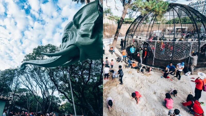 新竹動物園10大必玩亮點整理!大象門還原最原始藍綠色、河馬樂樂新家變兩倍大