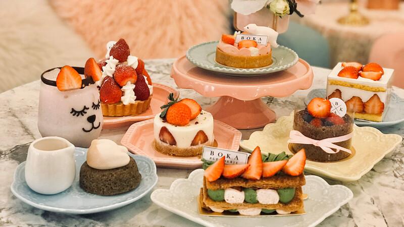 【民生社區美食】BOKA推草莓季限定「草莓甜點」,滿滿的草莓就是幸福滋味