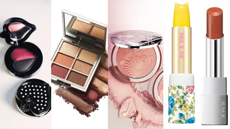 【2020春妝】RMK焦糖橘口紅、Dior玫瑰粉金打亮盤、PAUL & JOE黃色小貓護唇膏、ILIA眼影盤、ANNA SUI愛心眼影…是春天化妝包最美風景