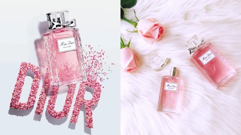 Dior迪奧2020年全新「Miss Dior漫舞玫瑰淡香水」,玫瑰、柑橘、白麝香交織,是讓人怦然心動的玫瑰花海香氣啊
