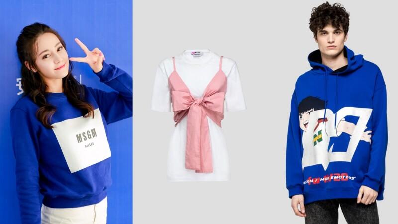 迪麗熱巴愛牌MSGM這件蝴蝶結襯衫,少女感100分!《足球小將翼》童趣上衣只有這間店有賣
