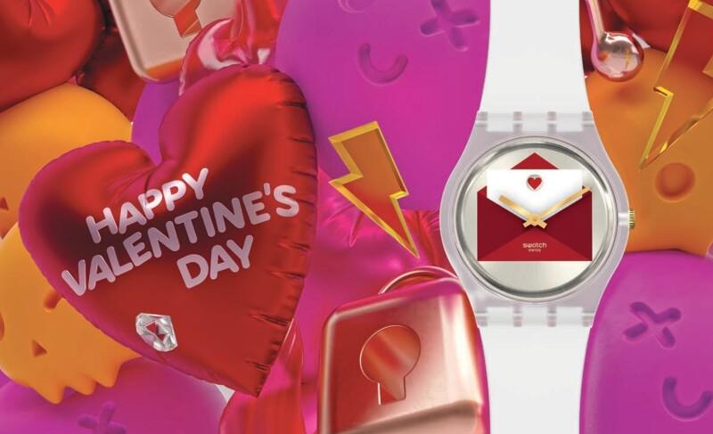 Swatch 推出「愛的告白」特別版腕錶,超可愛情書造型大聲表白,情人節脫單就靠它了!