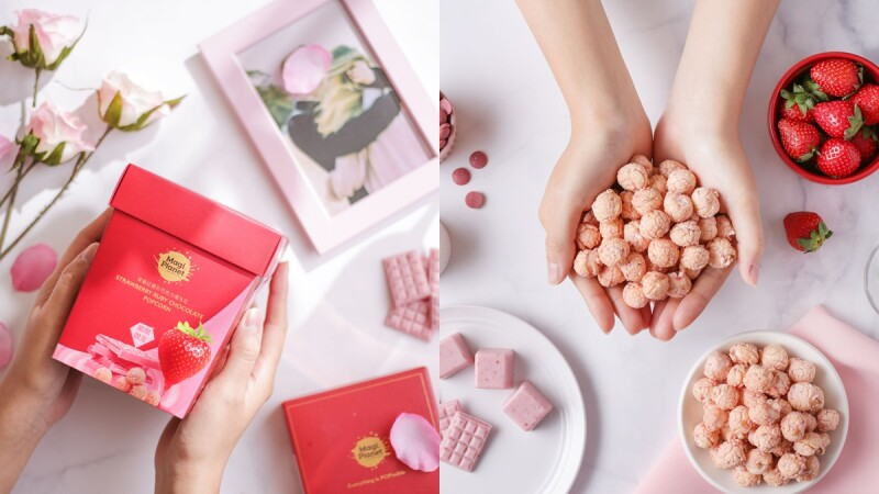 粉紅來襲!星球工坊推限量「草莓紅寶石巧克力爆米花」濃郁草莓香氣讓人欲罷不能