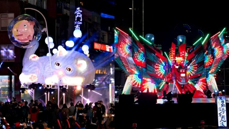 2020台北燈會首創西門、南港雙展區!9公尺高白貓主燈可愛登場、北門光雕展演時間公開