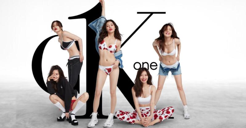 「性感小野馬」泫雅CK廣告超大膽尺度,單穿胸罩小褲褲,挑逗辣樣很會撩~