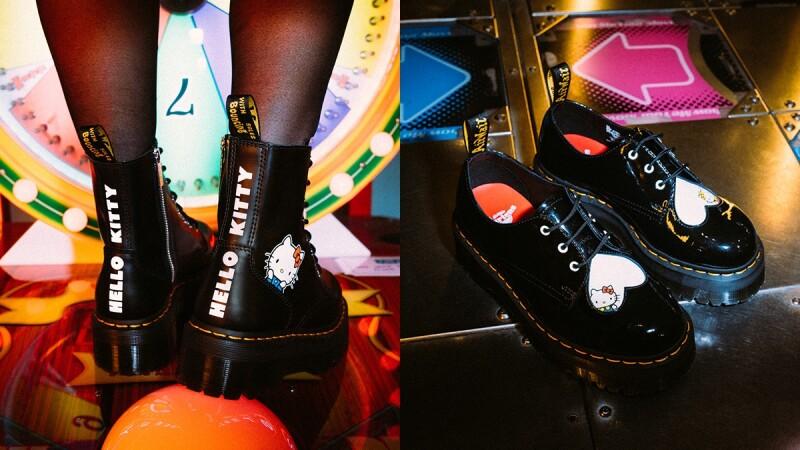 硬派女孩也會融化!Dr. Martens X Hello Kitty打造又帥又可愛的聯名馬汀鞋款,3月全球同步上市