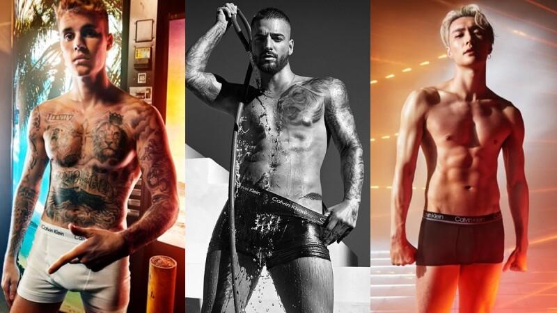 26歲哥倫比亞小鮮肉Maluma也為CK內褲脫了!大秀刺青肌肉身材,和小賈斯汀、張藝興比性感