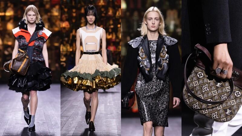 2020秋冬巴黎時裝週 LV橫跨500年的時裝史詩,宮廷風澎裙配機車夾克玩新舊碰撞,「進化版老花」絕對成爆款!