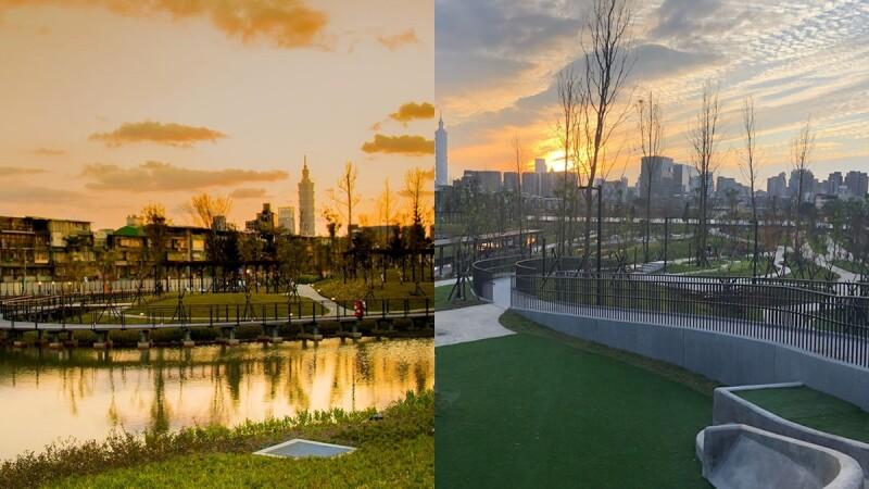 東區散步新選擇!南港全新「新新公園」啟用,濕地花園、落雨松林區、挺水植物區全都有,還能遠眺101好愜意