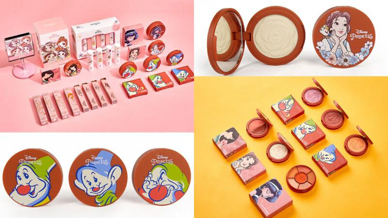 2020 FreshO2迪士尼公主彩妝,小矮人「無害血潤腮紅」、貝兒「白玫瑰打亮」打造粉嫩蘋果肌超討喜!