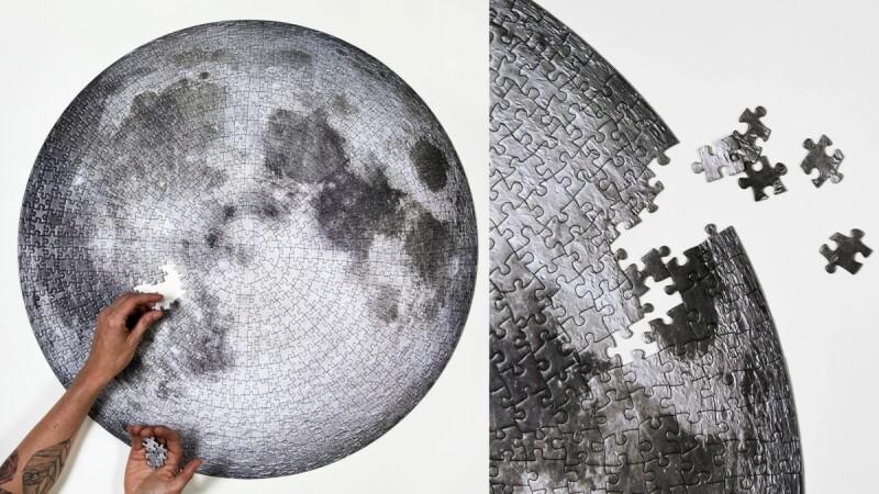 一起來挑戰!「1000片月球拼圖」連最小隕石坑都神還原,只有黑白灰三色,你能成功嗎?