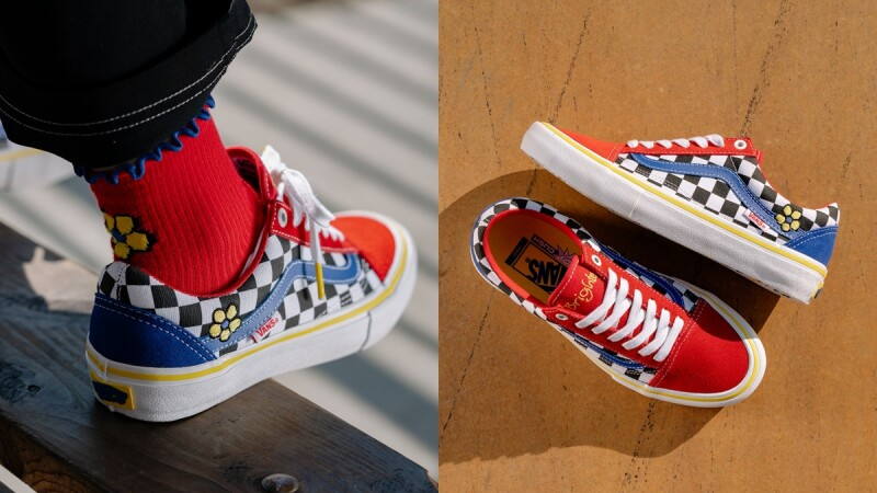 繡上俏皮小黃花!Vans為Old Skool注入紅、黃、藍繽紛色系,推出限定版鞋款
