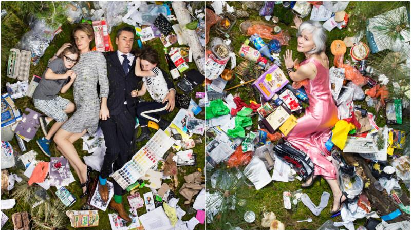 一週垃圾挑戰!攝影師Gregg Segal用反差影像紀錄一週的日常垃圾累積