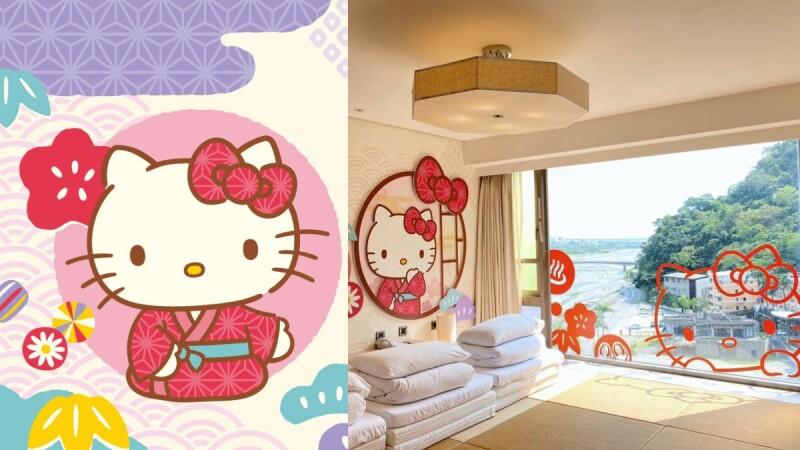 少女的夢幻天堂!台東知本金聯世紀酒店打造Hello Kitty主題房,穿浴衣Kitty陪你入夢鄉、道早安