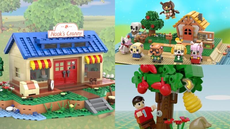 創意無極限!國外《動物森友會》5款樂高MOC作品,神還原島民傑克、草莓、商店、博物館、露營地