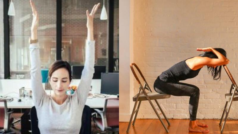 肩頸很緊繃?7個伸展訓練只需一把椅子就能做 讓肩頸線條更好看!