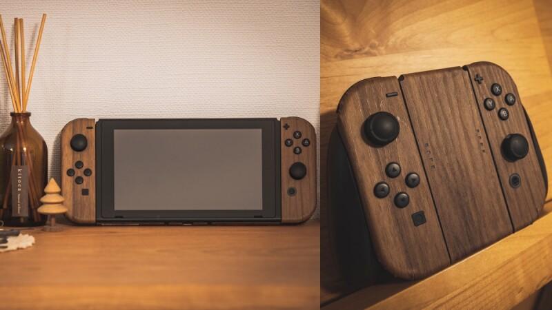 太時髦!木紋Switch主機改造教學大公開,還有超夢幻漸層保護殼