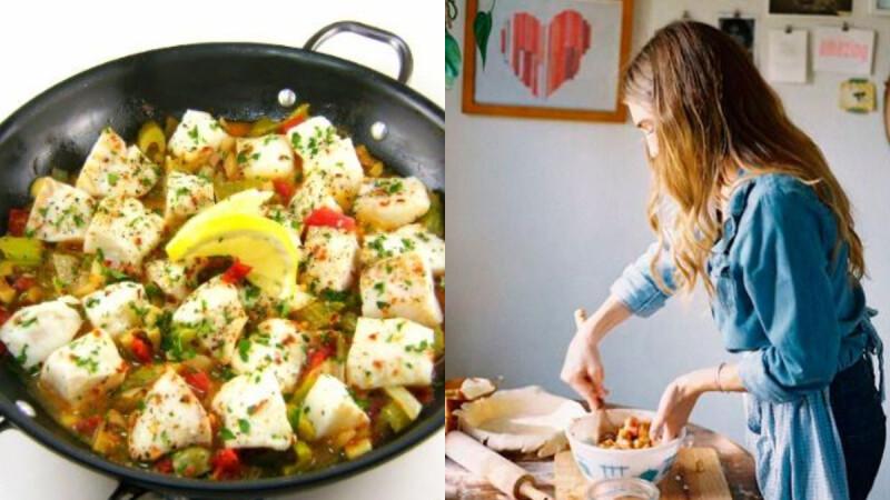 低卡低脂減脂餐—金針菇蒜蓉蒸魚粒料理 做法來了!清爽美味,吃了還想再吃!