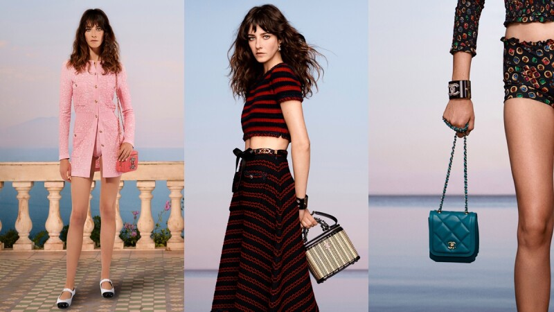 最時髦的海灘穿搭在Chanel Cruise 2020/21度假系列都能找到,泳裝式連身褲、草編涼鞋、竹編化妝箱包每一款都不想錯過