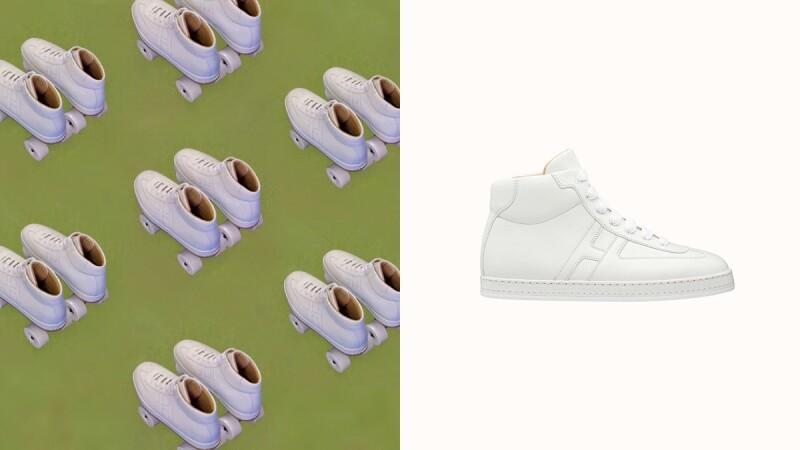 是球鞋也是溜冰鞋!Hermès推出全白四輪溜冰鞋實在太狂,限定量身訂製販售