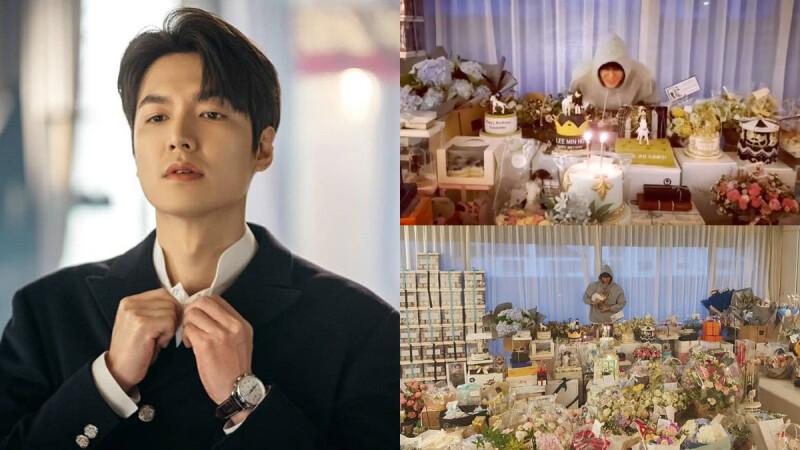 李敏鎬 33歲男神生日太快樂!禮物成堆、遠距離吹蠟燭,滿滿的祝福超開心!