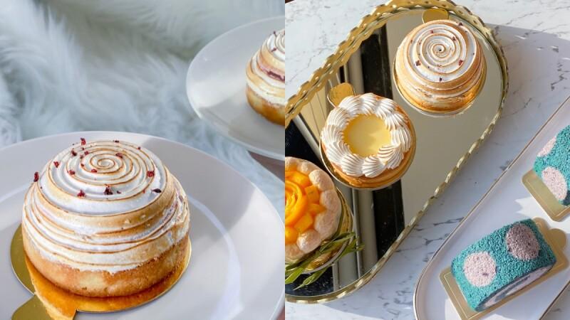 【桃園甜點】里花甜廚隱藏版甜點店4款必吃推薦,超萌毛怪卷、優雅的美味甜點在這裡