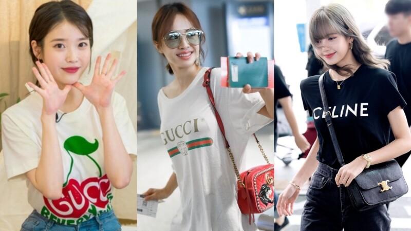 IU、蔡依林、楊冪、Lisa都在穿!盤點15件精品牌LogoT,偷學女星們這樣穿
