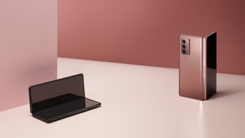 三星Galaxy Z Fold2絕美摺疊手機來了!高貴粉銅色、螢幕媲美平板尺寸,還推出Thom Browne 限量版