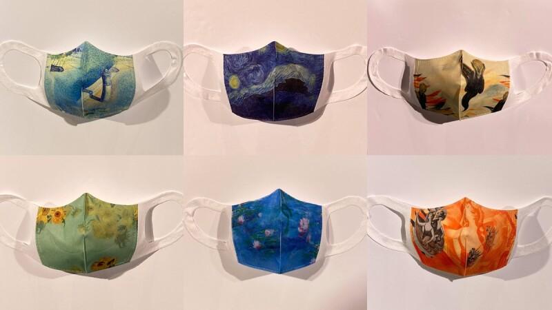 世界名畫醫療口罩太美了!集結梵谷《星夜》、孟克《吶喊》等28款精品級名畫口罩,每一款都捨不得戴呀
