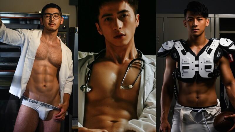深夜名堂鮮肉IG帳號推出首本寫真攝影集!5位台灣帥哥解放肌肉,化身性感醫生、廚師、網球教練
