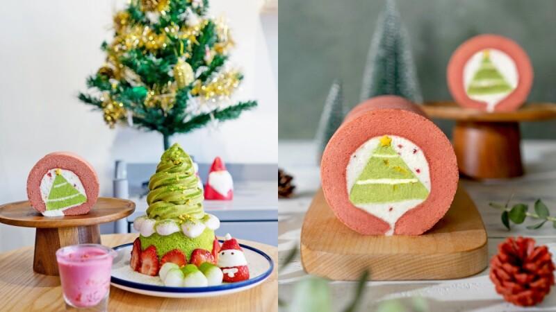 聖誕最美甜點!Kinber金帛手製推聖誕樹造型生乳捲、抹茶草莓冰山超吸睛