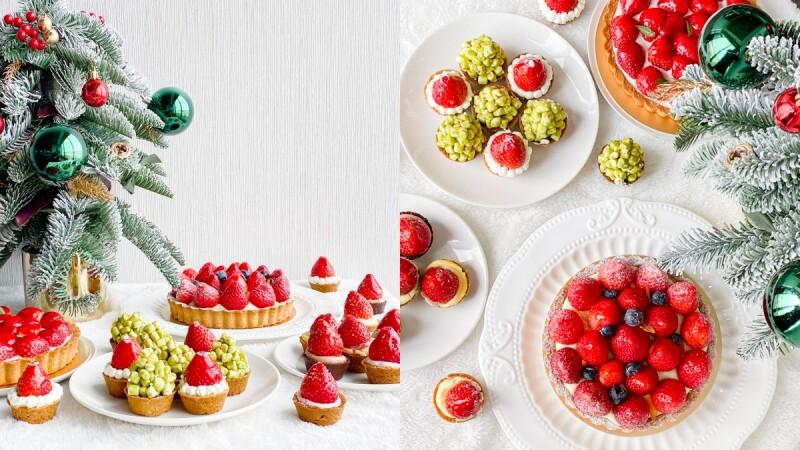 草莓控暴動!三文鳥甜點巢推聖誕限定迷你塔,草莓化身聖誕帽造型超可愛,滿滿的草莓吃好吃滿