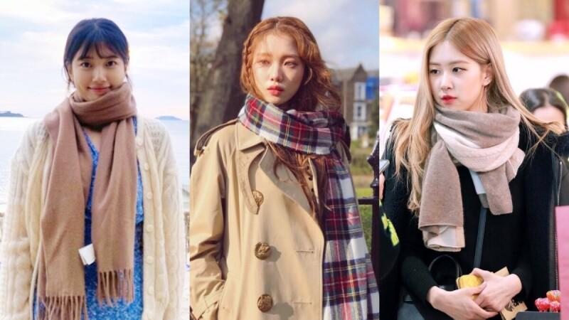 7種圍巾圍法一次報你知!跟著秀智、李聖經、Lisa這樣做,輕鬆打造秋冬時尚