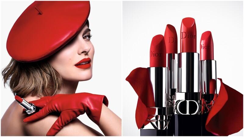 娜塔莉波曼霸氣演繹經典紅唇,2021年全新Dior迪奧藍星唇膏「35色X四大質地」滿足多變欲望!