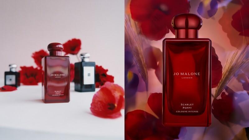 Jo Malone London 2021年黑瓶新香緋紅罌粟芳醇香水,寶石紅瓶身裝著令人上癮的花香