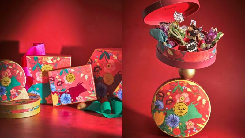 過年限定巧克力禮盒!Venchi推6款春節禮盒,珠寶盒般的時髦設計,人氣巧克力一次品嚐