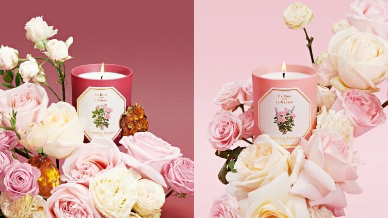 法國百年香氛蠟燭Carrière Frères 2021新品玫瑰之戀,大馬士革玫瑰搭配琥珀太浪漫